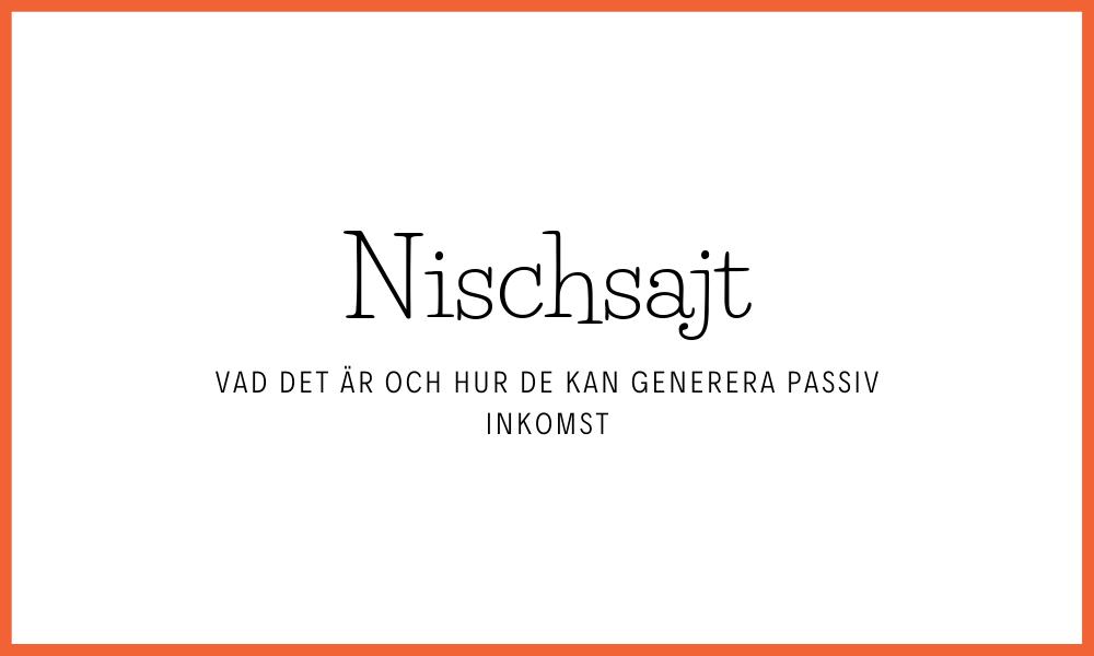 Vad är en nischsajt och hur genererar de inkomst?