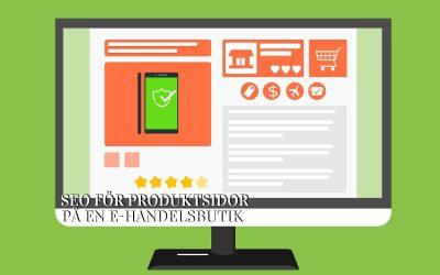 SEO för produktsidor på e-handelsbutiker